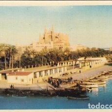 Cartes Postales: MALLORCA PASEO MARITIMO Y CATEDRAL ED. IMPRENTA PALMESANA Nº 9 AÑOS 50. Lote 175046232