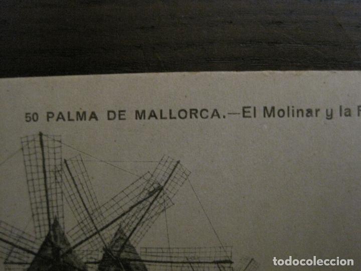 Postales: PALMA DE MALLORCA-EL MOLINAR Y FABRICA DE LUZ-MOLINOS DE VIENTO-50-LACOSTE-VER FOTOS-(62.136) - Foto 2 - 176018522