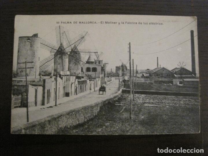 PALMA DE MALLORCA-EL MOLINAR Y FABRICA DE LUZ-MOLINOS DE VIENTO-50-LACOSTE-VER FOTOS-(62.136) (Postales - España - Baleares Antigua (hasta 1939))