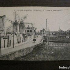 Postales: PALMA DE MALLORCA-EL MOLINAR Y FABRICA DE LUZ-MOLINOS DE VIENTO-50-LACOSTE-VER FOTOS-(62.136). Lote 176018522