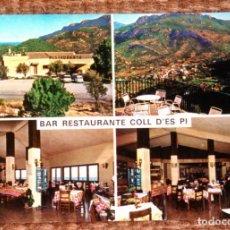 Postales: BAR RESTAURANTE COLL D'ES PI - ESTALLENCS - MALLORCA. Lote 176888010