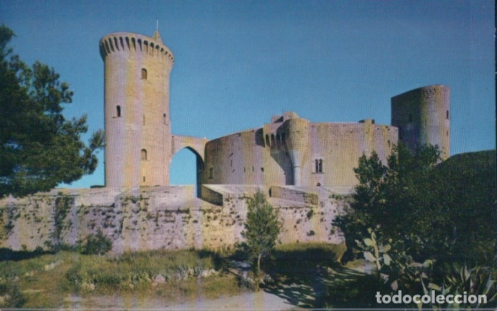 POSTAL MALLORCA (BALEARES) POSTAL. CASTILLO DE BELLVER. EDITA: CASA PLANAS - NEVCOLOR 154 (Postales - España - Baleares Antigua (hasta 1939))