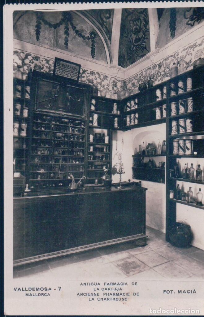 POSTAL DE VALLDEMOSA - MALLORCA ANTIGUA FARMACIA DE LA CARTUJA Nº 7 DE FOTO MACIA (Postales - España - Baleares Antigua (hasta 1939))