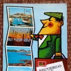Postales: RECUERDO DE IBIZA. Lote 179079996