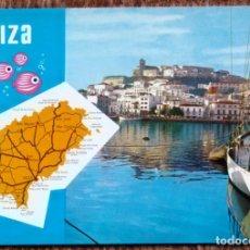 Postales: IBIZA - PLANO - MAPA. Lote 179080103