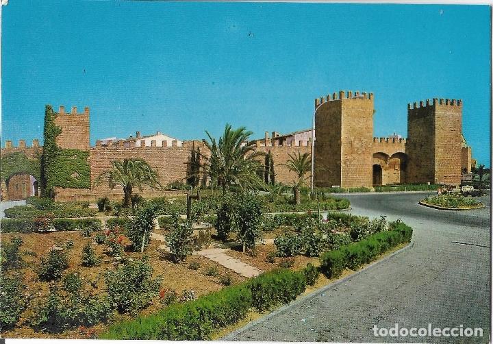 MALLORCA, ALCUDIA, LAS MURALLAS - FLOR DE ALMENDRO 3081 - S/C (Postales - España - Baleares Moderna (desde 1.940))