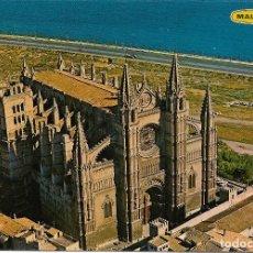 Postales: MALLORCA, PALMA, LA CATEDRAL S.XIII, VISTA AÉREA - FOTO PLANAS 1018 - S/C. Lote 179090111