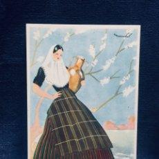 Postales: ANTIGUA POSTAL CON PUBLICIDAD DE FÓSFORO FERRERO BALEARES SERIE 4 N 2 MAIRATA. Lote 179375033