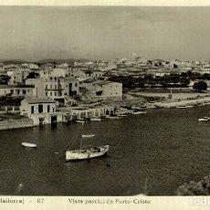 Postales: MANACOR VISTA PARCIAL DE PORTO CRISTO. Lote 182703155