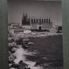 Postales: POSTAL MALLORCA. PALMA. LA CATEDRAL DESDE EL PUERTO. Lote 182797086