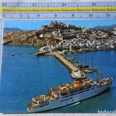 Cartes Postales: POSTAL DE IBIZA. AÑO 1977. ISLA BLANCA, PUERTO FARO BARCO CIUDAD BARCELONA TRASMEDITERRANEA. 1032. Lote 182915802