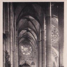 Postales: MALLORCA - INTERIOR DE LA CATEDRAL (NO. 9) - CORREO AÉREO / 1957. Lote 183845005