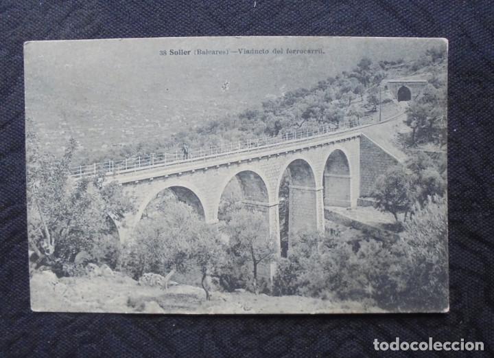 POSTAL MALLORCA SOLLER 1921 (Postales - España - Baleares Antigua (hasta 1939))
