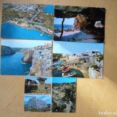 Postales: LOTE 5 POSTALES DE MENORCA. Lote 184003568