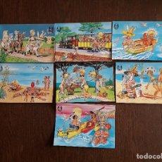 Postales: LOTE DE 7 POSTALES DE LAS BALEARES DE PLAY DONKEY AÑOS 80. Lote 276078898