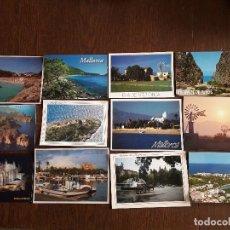 Postales: LOTE DE 12 POSTALES DE VISTAS DE MALLORCA, BALEARES, AÑOS 80-90. Lote 184307908