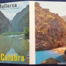 Postales: BLOC DE 15 POSTALES EN ACORDEÓN. SA CALOBRA.MALLORCA. BALEARES.ED.COLOR CYP.1987.. Lote 186246140