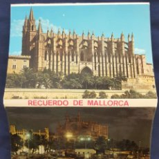 Postales: BLOC DE 10 POSTALES EN ACORDEÓN.PALMA DE MALLORCA. BALEARES.ED.FLOR DE ALMENDRO. 1968.. Lote 186246835