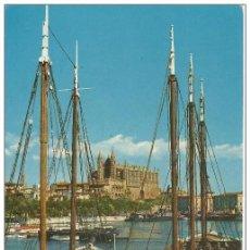 Cartes Postales: == C64 - POSTAL - MALLORCA - PALMA - LA CATEDRAL DESDE EL MUELLE DE PESCADORES. Lote 187991146