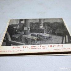 Postales: POSTAL ANTIGUA MALLORCA. INCA. CELLER CA´N AMER. CIRCULADA EL 18/07/1956. Lote 140026102