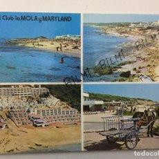 Postales: BALEARES, POSTAL DE FORMENTERA, HOTEL CLUB LA MOLA Y MARYLAND, NUMERO 571. Lote 189387790