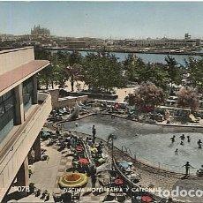 Postales: X122888 ISLAS BALEARES MALLORCA PALMA DE MALLORCA PISCINA HOTEL BAHIA Y CATEDRAL. Lote 189415136