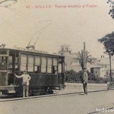 Postales: SOLLER-TRANVIA ELECTRICO AL PUERTO-42-THOMAS-POSTAL ANTIGUA-(65.791). Lote 189897967