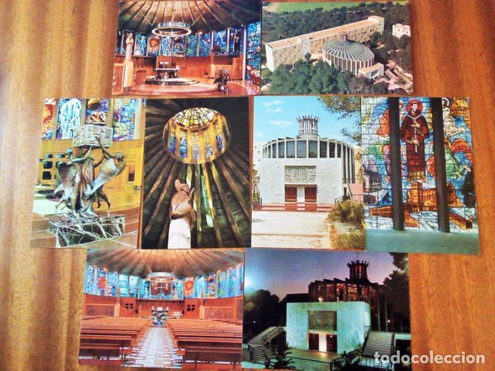 IGLESIA LA PORCIÚNCULA, PALMA DE MALLORCA. ISLAS BALEARES. 8 POSTALES. SIN CIRCULAR (Postales - España - Baleares Moderna (desde 1.940))