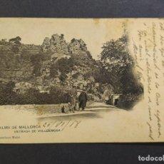 Postales: PALMA DE MALLORCA-ENTRADA DE VALLDEMOSA-5-FCO MULET-REVERSO SIN DIVIDIR-POSTAL ANTIGUA-(66.670). Lote 191730100