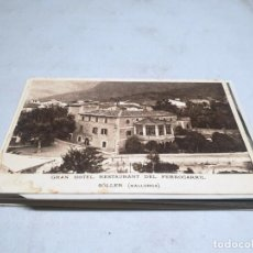 Postales: POSTAL ANTIGUA MALLORCA. SÓLLER. GRAN HOTEL RESTAURANT DEL FERROCARRIL. . Lote 192077211