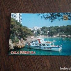 Postales: POSTAL DE VISTAS DE MALLORCA, PLAYA DE CALA FERRERA, ESCUDO DE ORO BALEARES, AÑOS 80. Lote 277680603