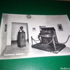 Postales: ANTIGUA POSTAL DE VALLDEMOSA DE MALLORCA. EL PIANO DE CHOPIN. AÑOS 50. Lote 194221161