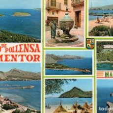 Postales: MALLORCA - PUERTO POLLENSA Y FORMENTOR (FOTO CASA PLANAS Nº 1316) SIN CIRCULAR / P-6599. Lote 194298047