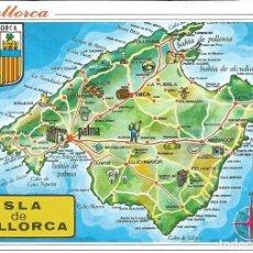 Postales: [POSTAL] MAPA DE LA ISLA DE MALLORCA (SIN CIRCULAR). Lote 194317223