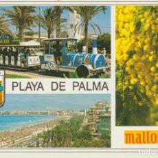 Postales: (1534) MALLORCA. EL ARENAL. MIMOSA. TREN TURISTICO ... SIN CIRCULAR. Lote 194332753