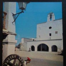 Postales: SAN JOSE (IBIZA) IGLESIA POSTAL CIRCULADA CON SELLO DEL AÑO 1967. Lote 195137796