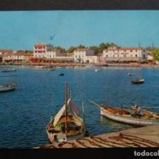 Postales: MALLORCA, PUERTO DE ALCUDIA, POSTAL CIRCULADA DE LOS AÑOS 60. Lote 195139285