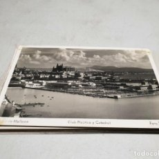 Postales: POSTAL ANTIGUA MALLORCA. CLUB NÁUTICO Y CATEDRAL. TRUYOL.. Lote 195418187