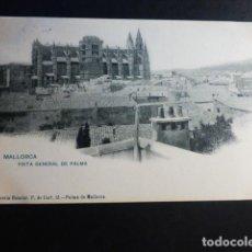 Postales: PALMA DE MALLORCA VISTA GENERAL ED, LIBRERIA ESCOLAR REVERSO SIN DIVIDIR. Lote 195890787