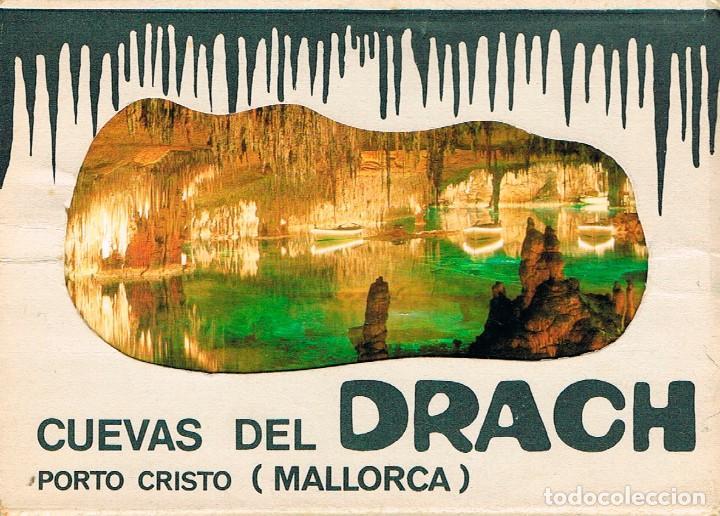 PORTO CRISTO (MALLORCA), CUEVAS DEL DRACH, CARPETA CON UNA TIRA DE 10 POSTALES (Postales - España - Baleares Moderna (desde 1.940))