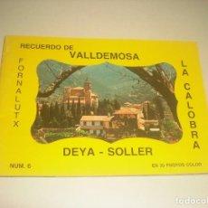 Postales: RECUERDO DE VALLDEMOSA, DEYA , SOLLER, LA CALOBRA. CONSTA DE 35 FOTOS. N. 6. FORNALUTX. Lote 196125986