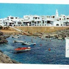 Postales: BINIBECA / 316 / PUEBLO DE PESCADORES / EXCLUSIVAS LUCIA MORA / ALAYOR / ESCRITA CON SELLO. Lote 196300800