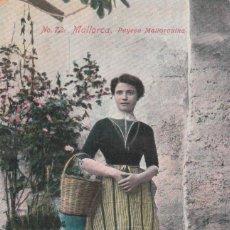 Postales: ANTIGUA POSTAL. PAYESA MALLORQUINA, MALLORCA. Nº 72 SIN CIRCULAR BALEARES MD. Lote 196564913
