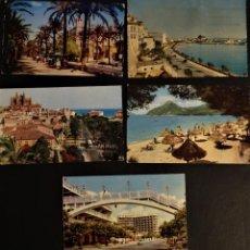 Postales: 5 POSTALES DE MALLORCA DE LOS AÑOS 60, VER FOTOGRAFÍAS. Lote 197344646