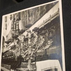 Postales: POSTAL IMAGEN INTERIOR DE CATEDRAL MALLORCA CANDELABRO MENORÁ JUDÍO S XX. Lote 197421025
