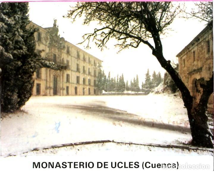 DESPLEGABLE DE FOTOGRAFIAS DEL MONASTERIO DE UCLES EN CUENCA EN COLOR 10 FOTOS POSTALES (Postales - España - Baleares Moderna (desde 1.940))