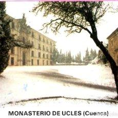 Postales: DESPLEGABLE DE FOTOGRAFIAS DEL MONASTERIO DE UCLES EN CUENCA EN COLOR 10 FOTOS POSTALES . Lote 198504646