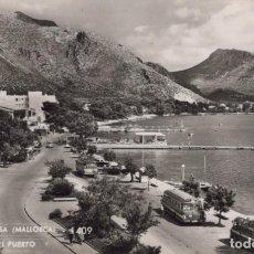 Postales: POSTAL PUERTO POLLENSA - MALLORCA - DETALLE DEL PUERTO - 1409 ZERKOWITZ - AUTOBUS. Lote 198545666