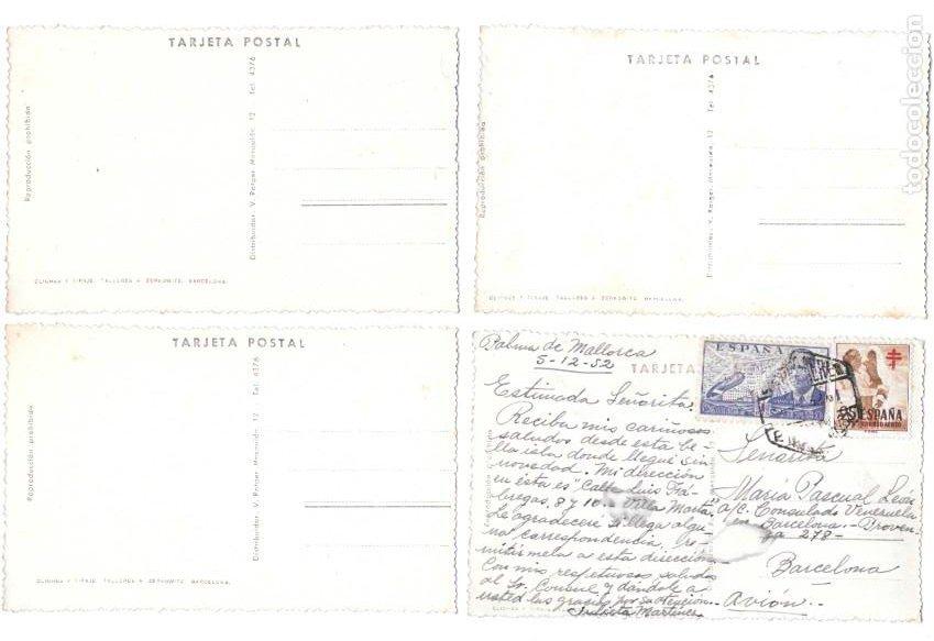 Postales: P-11466. LOTE 5 POSTALES MALLORCA. FOT. ZERKOVITZ. MEDIADOS S.XX. - Foto 3 - 202728455