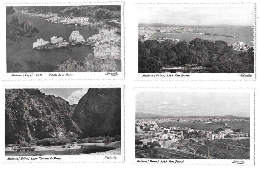 P-11466. LOTE 5 POSTALES MALLORCA. FOT. ZERKOVITZ. MEDIADOS S.XX. (Postales - España - Baleares Moderna (desde 1.940))